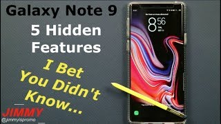 Galaxy Note 9 - The 5 HIDDEN Tricks You DIDN'T Know