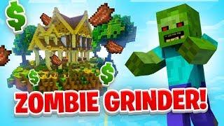 ZOMBIE GRINDER! - Minecraft SKYBLOCK #15 (Season 1)
