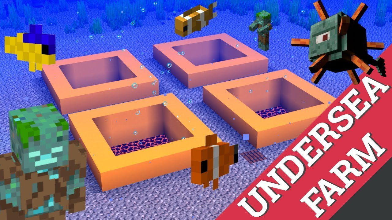 Minecraft How to Make a Fish Farm: An Underwater Farm by ...