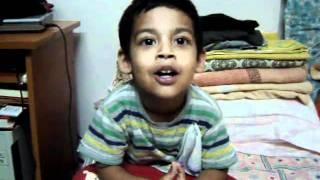 Atharva reciting Guru Bhrama Guru Vishnu