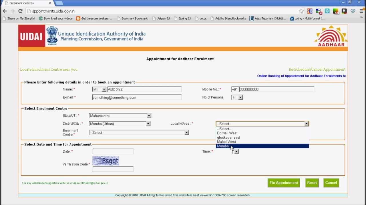 Aadhar Card Form Delhi Pdf In English