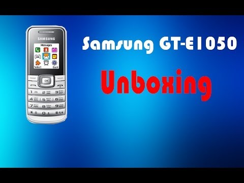 Samsung GT-E1050 white, unboxing and quick review