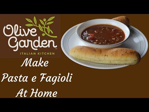 Olive  Garden Pasta e Fagioli Copycat Recipe
