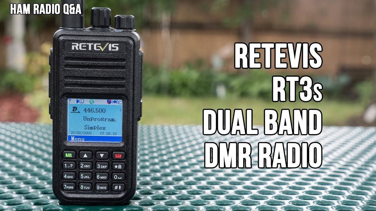 Retevis RT3S Dual Band DMR Handheld Review - Ham Radio Q&A