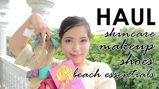 HAUL (Makeup, Skincare, Shoes & Beach Essentials) - saytiocoartillero