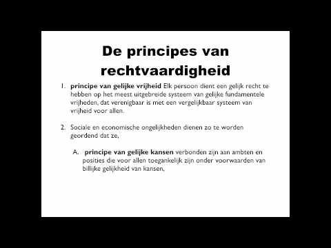 Eindterm 58: John Rawls over rechtvaardigheid