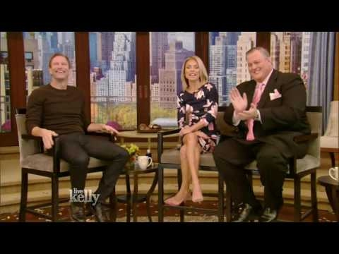 Aaron Eckhart interview Live With Kelly  11/14/2016 co-host Billy Gardell