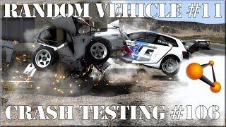 BeamNG.Drive Experimental Random Vehicle #11 Crash Testing #106 HD