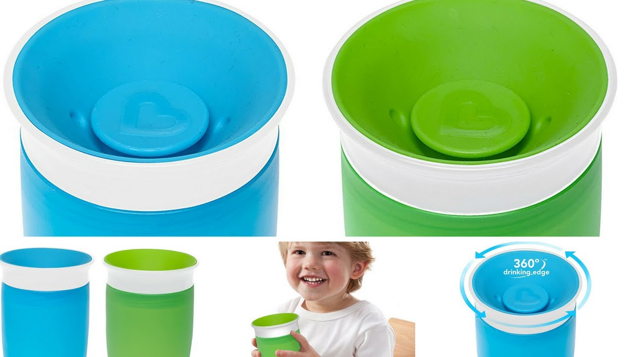 Munchkin Miracle 360 Sippy Cup Green//Blue 2 Count 10 Ounce