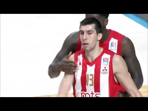 Ognjen Dobrić with a MONSTER chase-down BLOCK! (Crvena zvezda mts - Mornar, 2.4.2018)