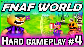 FNAF World Gameplay HARD FIXED PARTY Part 4 | Pinwheel Funhouse! | FNAF World Walkthrough Part 4