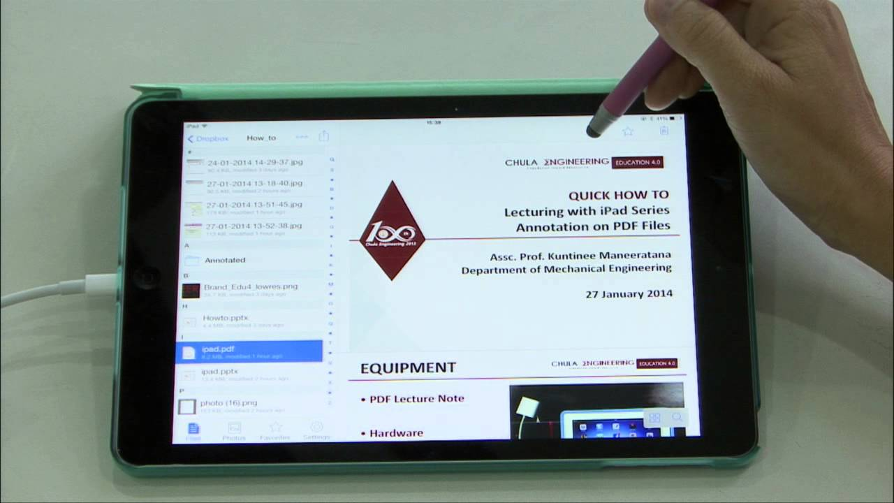 Lecturing With Ipad Series  Annotation On Pdf Files