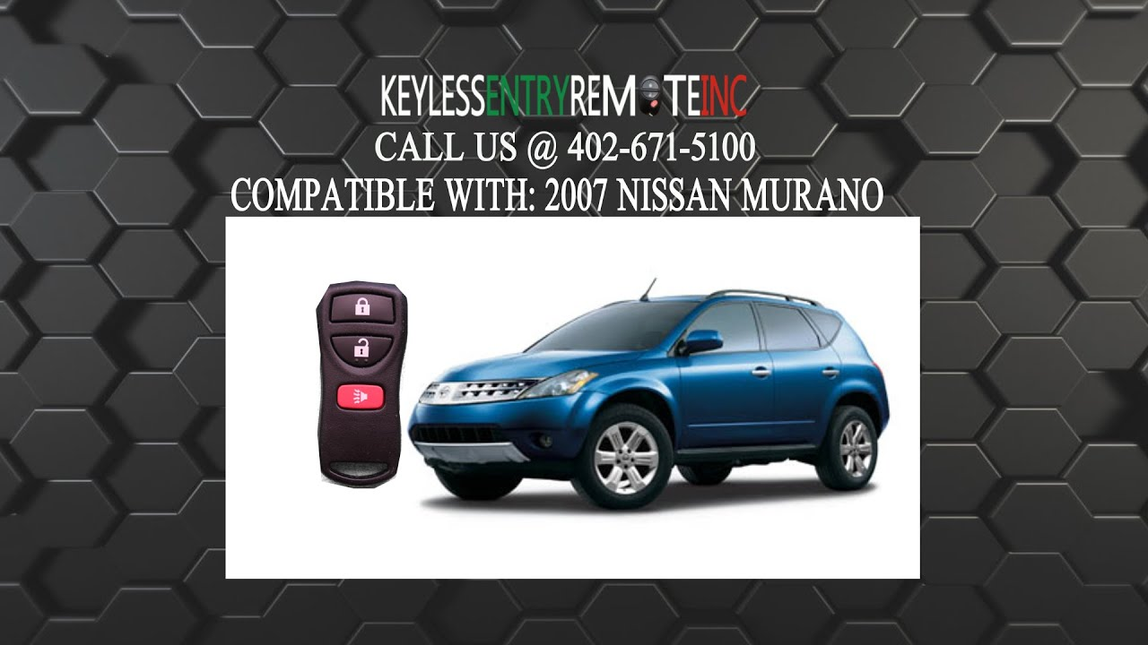 How To Replace Nissan Murano Key Fob Battery 2007  YouTube