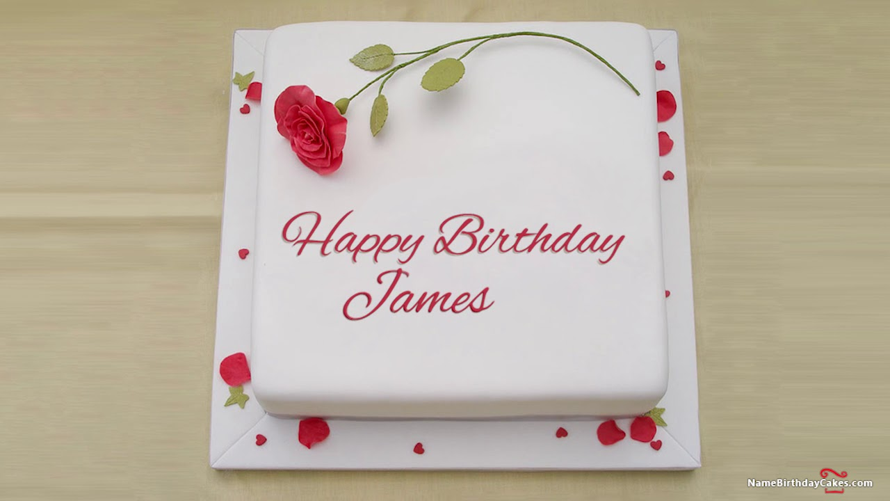 Happy Birthday James Best Wishes For You Youtube