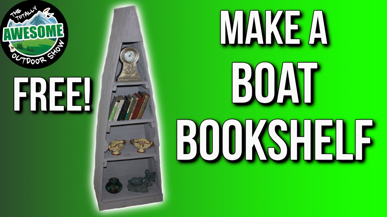 Make a Boat Bookshelf from Pallet Wood | TA Outdoors - YouTube