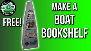 In this video Graeme shows you how to make an authentic/rustic boat bookshelf for Free! You can save money by making things