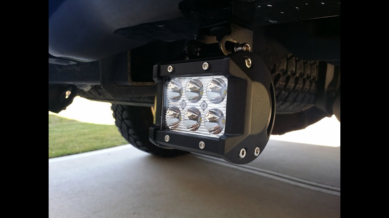 How to install rear f cree led reverse light bars