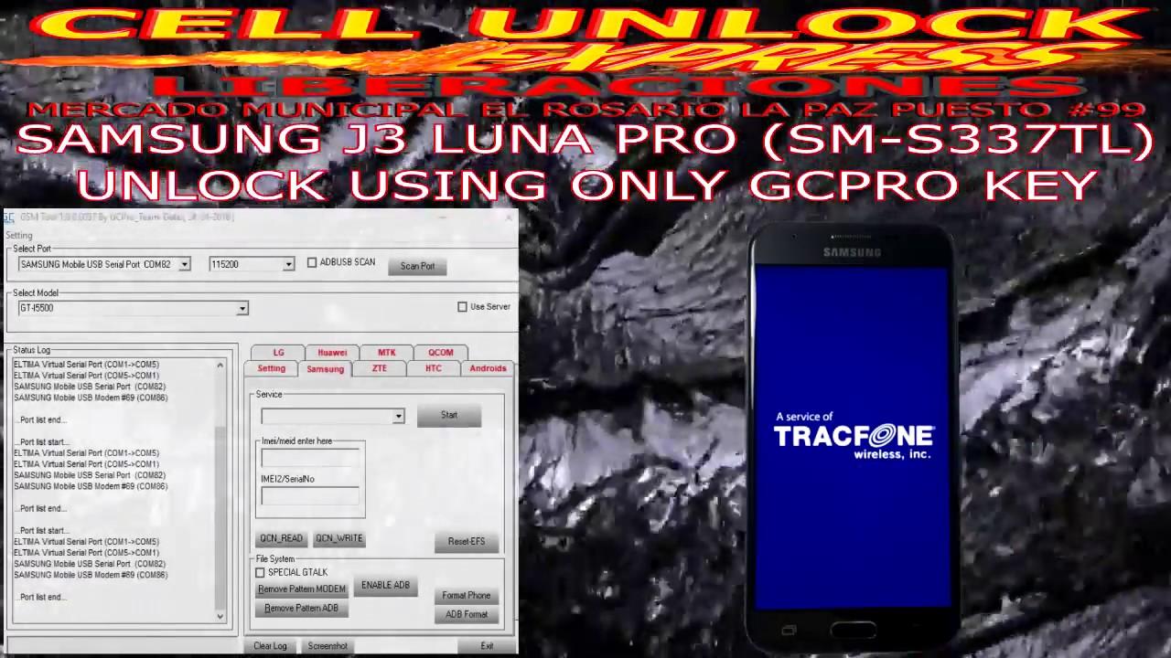 Galaxy J3 Luna Pro Tracfone S337TL Unlock NO CREDITS Spanish/English  Bit/Binary 1&2