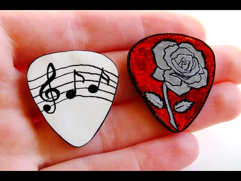 DIY Guitar Picks TUTORIAL (Customisable)