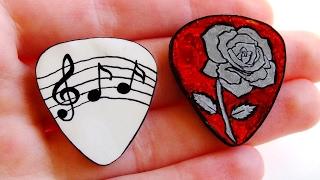 DIY Guitar Picks TUTORIAL (Customisable)