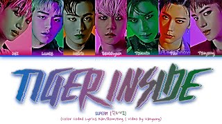 "SuperM (슈퍼엠) - ""TIGER INSIDE"" (Color Coded Lyrics Han/Rom/Eng/가사 