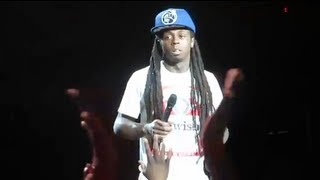 lil wayne threatens fan for throwing ice on him new jersey