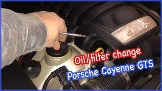 DiY 2009 Porsche Cayenne GTS 9PA oil/filter change. Замена масла/фильтра. English.