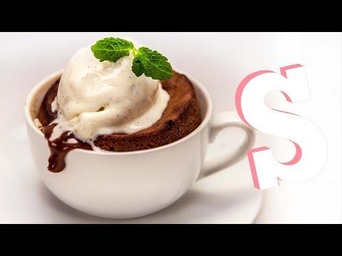 Chocolate & Peanut Butter Fondant in a MUG Recipe - SORTED