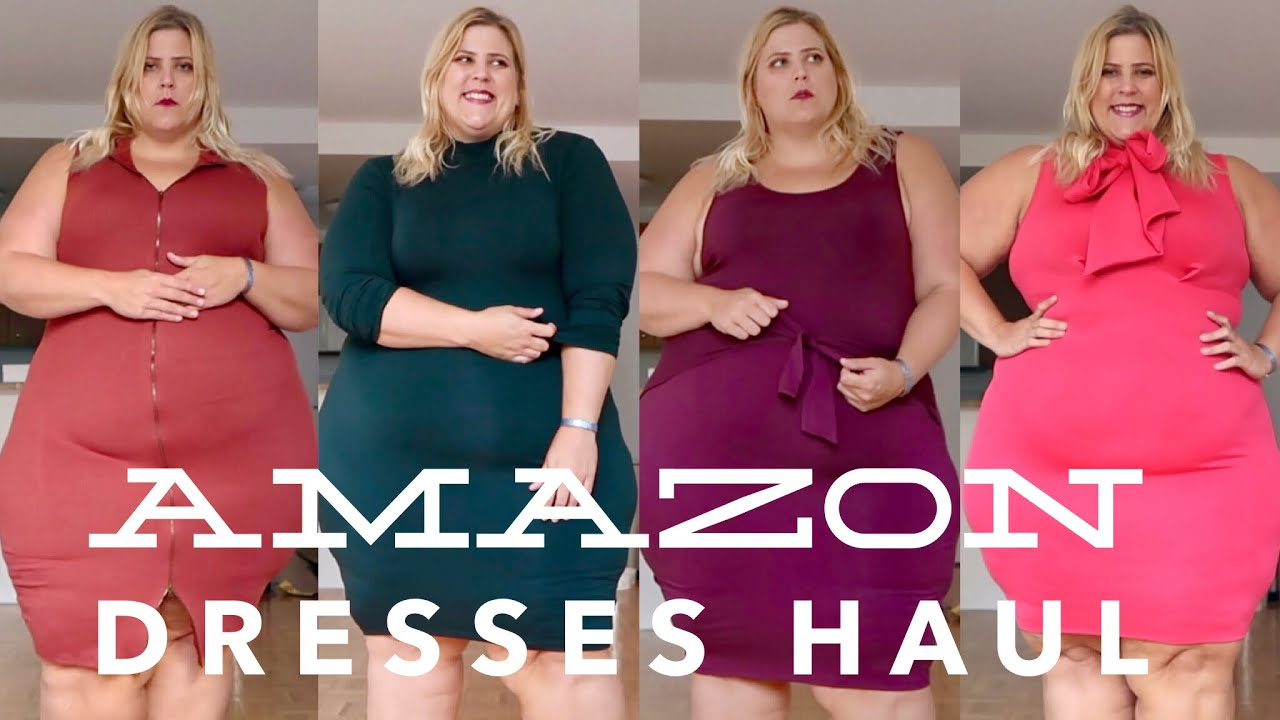 Amazon Plus Size Dresses Haul Youtube