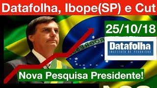 Nova Pesquisa Datafolha, Ibope (SP) e Cut/Vox Populi fakes! 25/10/18