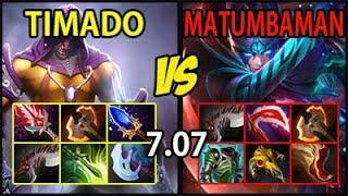 Timado [AntiMage] vs Matumbaman [PA] - Full Items HARD GAME 7.07
