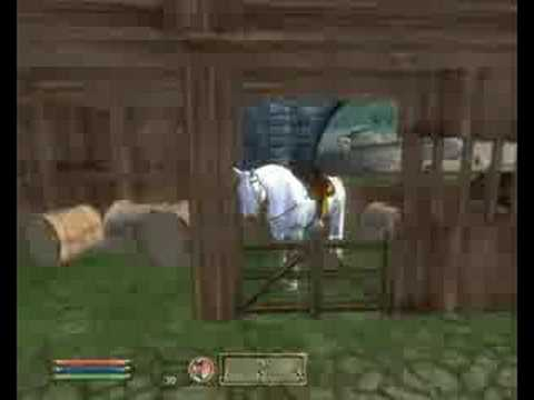 oblivion how to get a horse