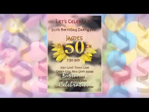 50th Birthday Invitations See More At Squidoo