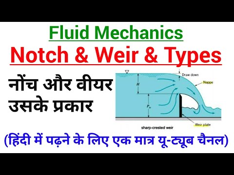 (IN HINDI) What is Notches and Weirs and Its Types in Hindi-AB CLASSES,Fluid Mechanics