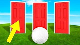 КАКАЯ ДВЕРЬ ВЕДЕТ К ФИНИШУ? РЕШИЛИ ГОЛОВОЛОМКИ И ПРОШЛИ САМУЮ СЛОЖНУЮ ЛУНКУ В ГОЛЬФ ИТ (Golf It)