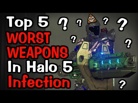 Top 5 WORST WEAPONS In Halo 5 Infection