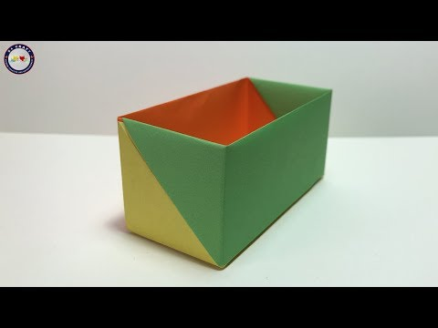 How to Make an  Origami Rectangular Box - Origami Rectangular Box Tutorial thumbnail