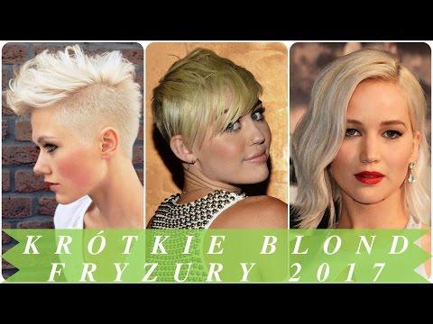 Krótkie Blond Fryzury 2017 Youtube