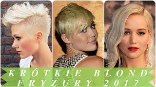 Krótkie blond fryzury 2017