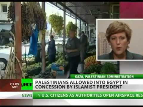 Palestinians are now FREE ENTRY to their territory GAZA