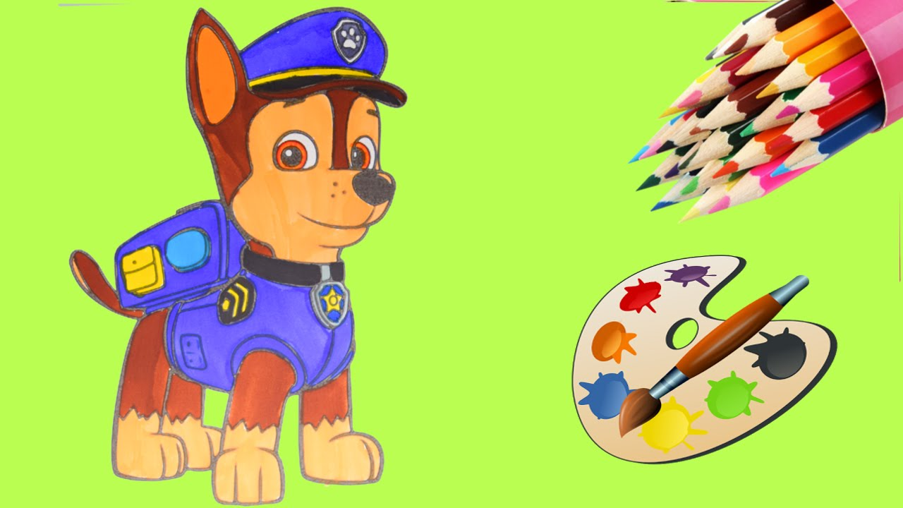 NEW NICK JR PAW PATROL CHASE COLORING BOOK COLORING PAGES ...