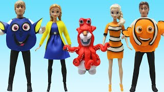 """Play Doh  """"Finding Dory""""  Frozen Elsa Anna Olaf Hans Kristoff Inspired Costumes"""