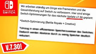 BETTER Performance & MORE! Patchnotes for Version 7.3 | Fortnite Switch