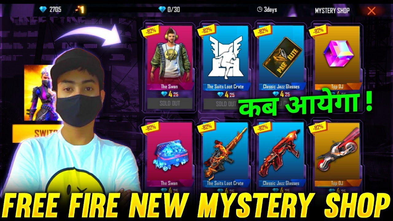FREE FIRE NEW MYSTERY SHOP EVENT-Garena free fire