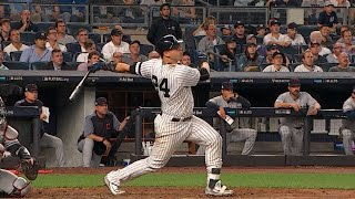 CLE@NYY Gm4: Sanchez hits a solo shot to right field