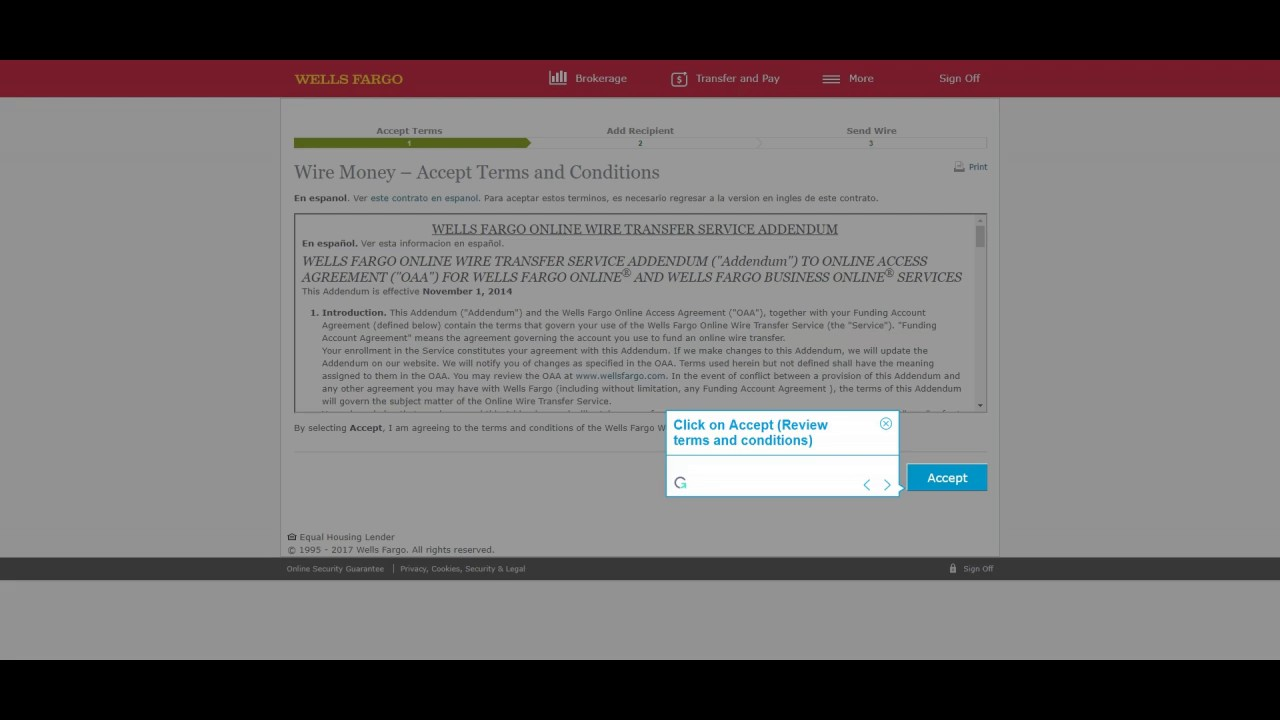 How to wire money using Wells Fargo online account @wellsfargo #wire ...