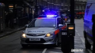 3 different sirens -  Police patrol London