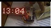 Big 32x16 LED Internet Clock on ESP8266 - YouTube