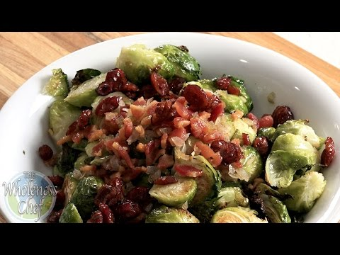 Roasted Brussels Sprouts With Pancetta And Cranberries – Wholeness Chef