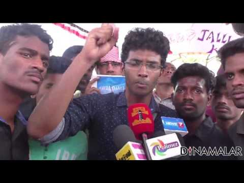 Students Protest in Avadi on Jallikattu